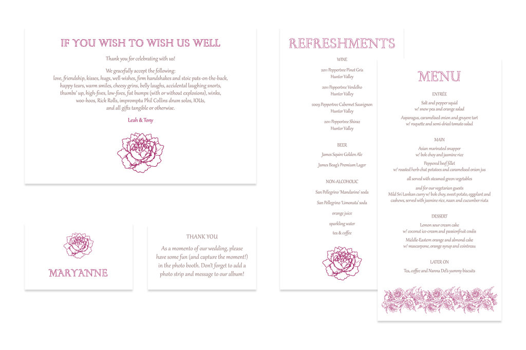 Wedding invitation series